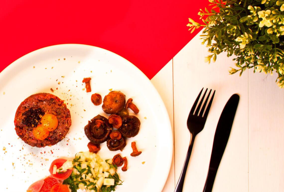 Tatar zsarny, kiszone grzyby, kiszona rzodkiewka
